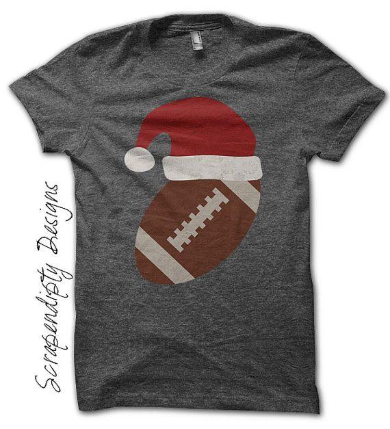 Iron on Football Shirt PDF Santa Hat Iron by ScrapendipityDesigns