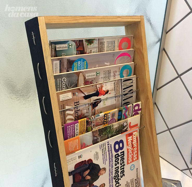 Aprenda a fazer um revisteiro e guarde suas revistas com muito mais estilo.