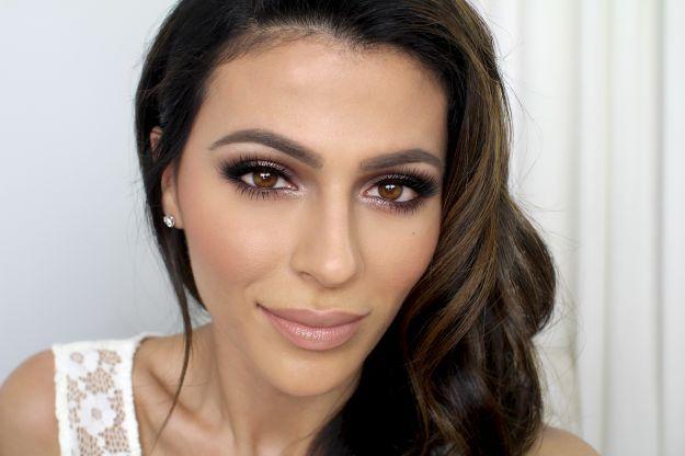 Натуральный свадебный макияж для карих глаз ::: onelady.ru ::: #makeup #eyes #eyemakeup