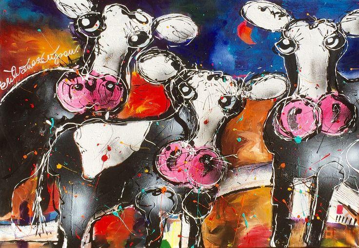 """""""Me, myself and I"""" 70 x 100 cm. By Erik Zwezerijnen Acrylic on canvas. www.erikzwezerijnen.com"""