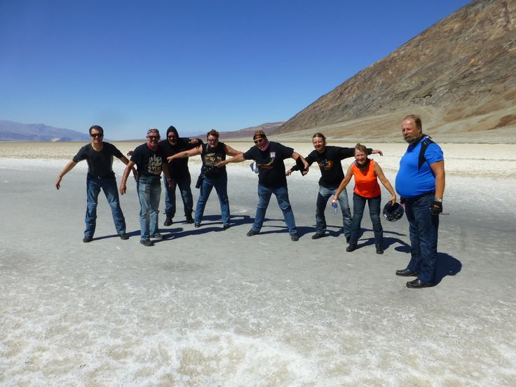 Leaning to the wind. Bad Water. Death Valley.