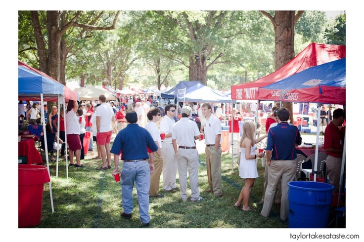 tailgating in the Grove before the game