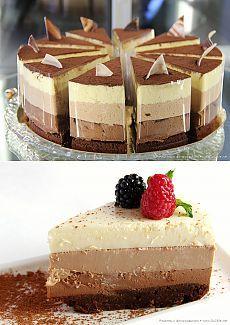 Приготовь! Шоколадные рецепты: десерт «Три шоколада» » Большие фото новости: ты увидишь мир