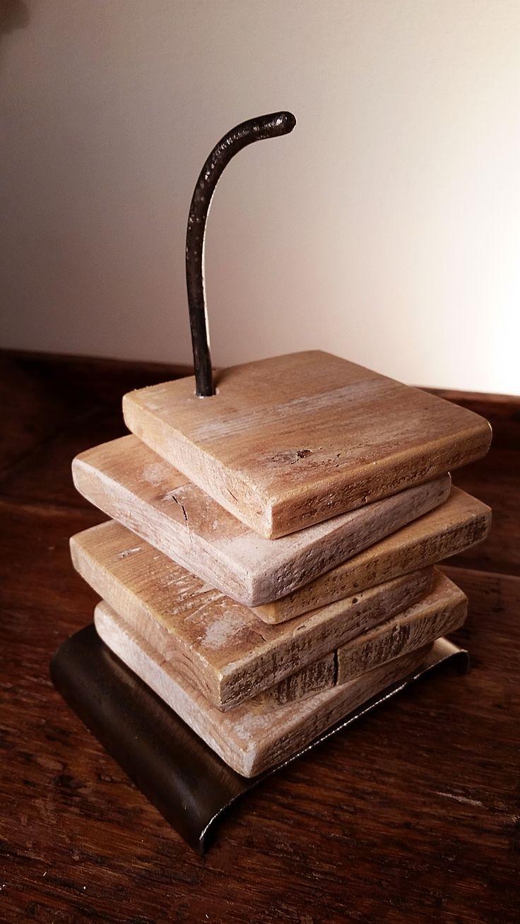 Set sottobicchieri legno riciclato