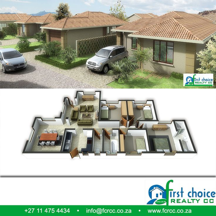 Developments by First Choice Realty. Choose from a wide range of plans and locations in Gauteng , 100% Bonds to approved buyers ‪#‎affordablehousing‬ ‪#‎property‬ ‪#‎Gauteng‬