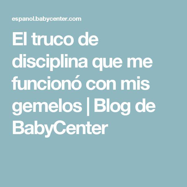 El truco de disciplina que me funcionó con mis gemelos | Blog de BabyCenter