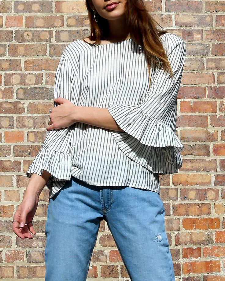 Have you snapped up our best selling 'Bell Sleeve Striped Shirt' yet? #myFC #FrenchConnectionAU #instagram