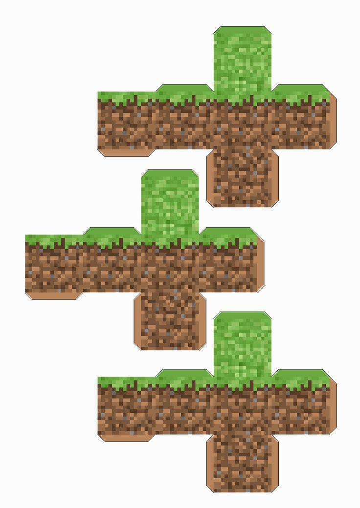 Minecraft con Papel! Dejalos en tu escritorio!