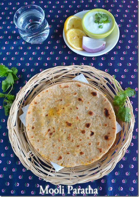 Mooli / Radish Paratha Recipe