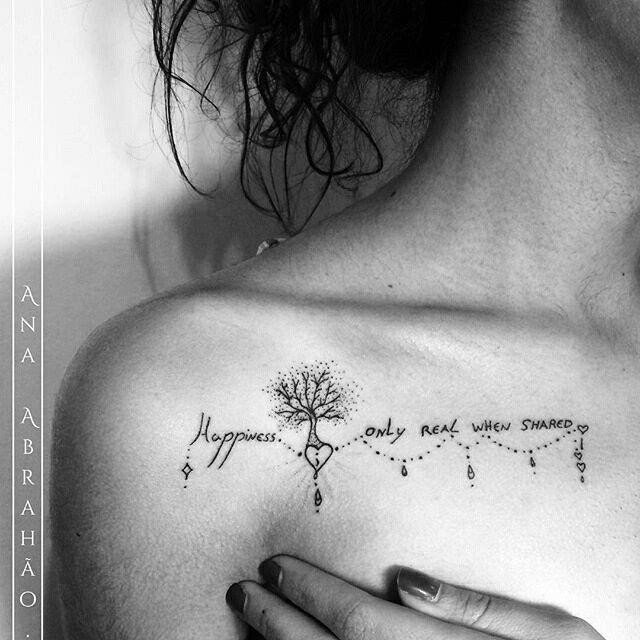 """Pensamento muito importante sobre a felicidade e quando ela acontece! Esta é a mensagem da maravilhosa história de """"Into the Wild"""" ou """"Na Natureza Selvagem"""", para aqueles que não tiveram a oportunidade e o contato com o livro ou com o filme, fica a indicação, vale muito a pena! Via Ana Abrahão =) Tatuagem feita por <a href=""""http://instagram.com/abrahaoana"""">@abrahaoana</a>    , Brasil.  Agenda aberta para Outubro  AnaAbrahaoink@gmail.com http://www.facebook.com/AnaAbrahaoInk"""
