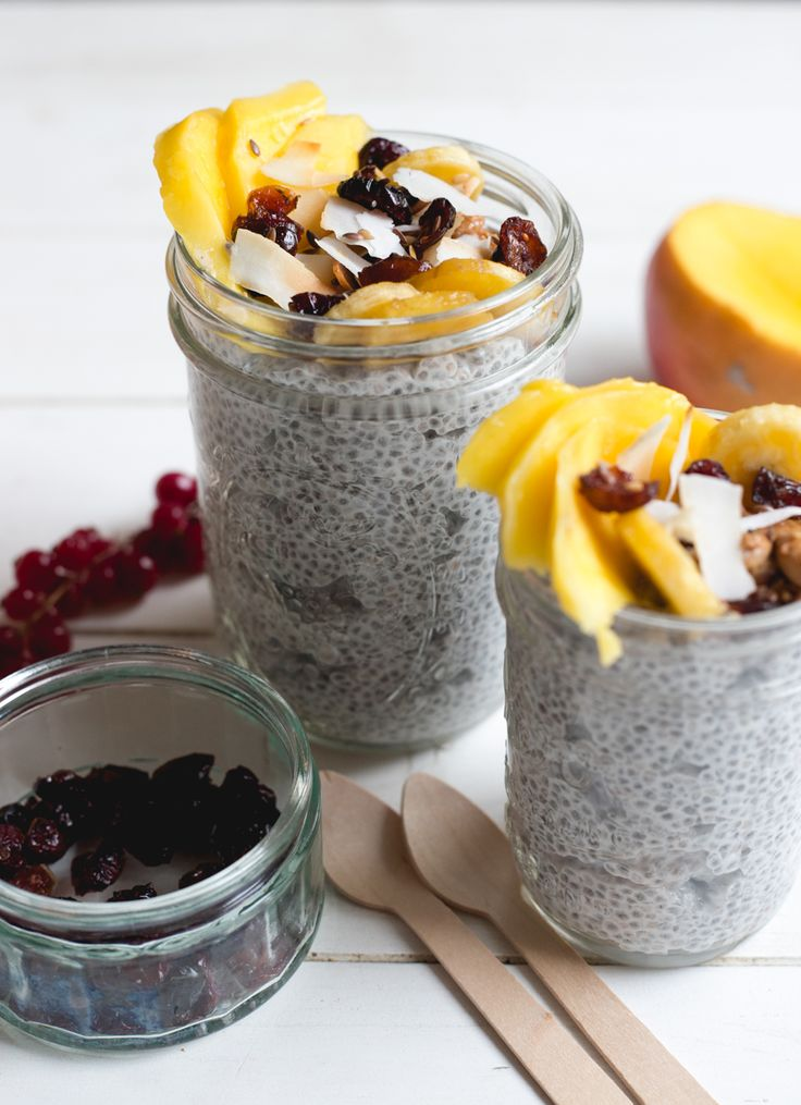 Chia pudding with coconut