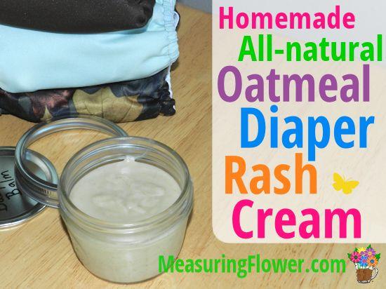 Homemade All-natural Oatmeal Diaper Rash Cream {Cloth Diaper Safe} | Measuring FlowerMeasuring Flower