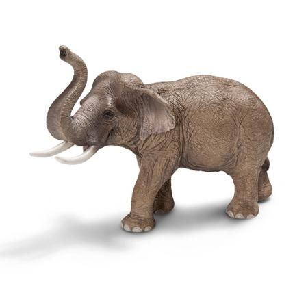 Schleich Asian Male Elephant Toy Animal at walmart. Spray painted silver or white and mounted this would make a cute set of bookends
