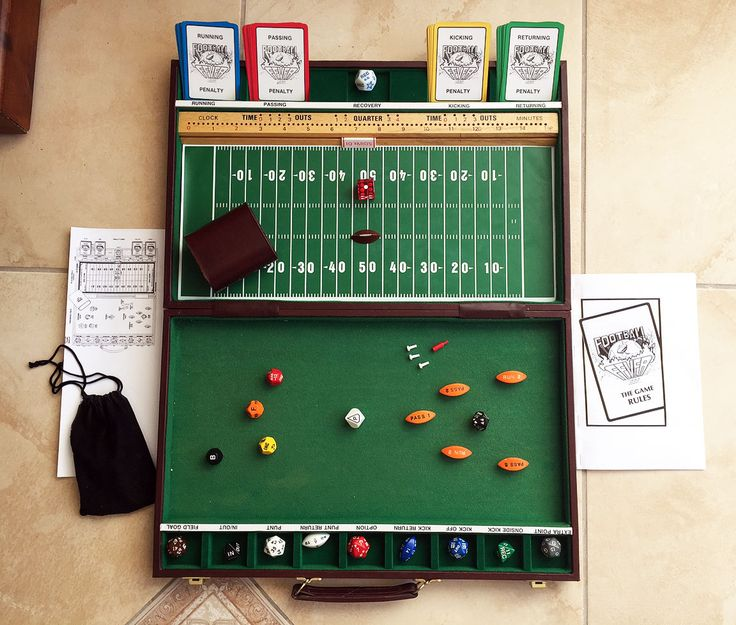 Football Fever 1985 Sports Strategy Board Game Rare