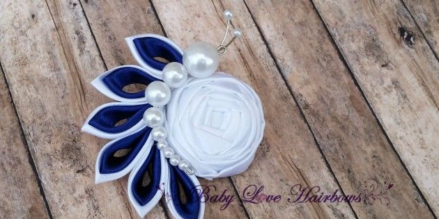 Handmade – Kanzashi – Fabric Flower Hair Clip