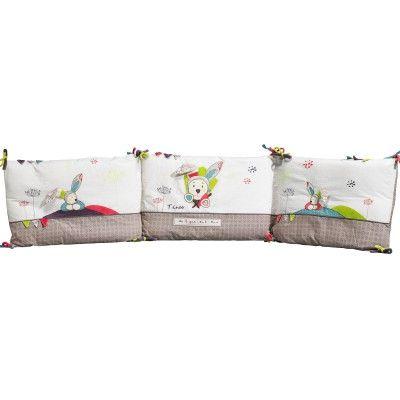 Spectacular Le tour de lit Tinoo de la marque Sauthon habillera le lit de b b tout en