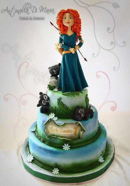 Brave Merida 1  Cake by antonelladimaria