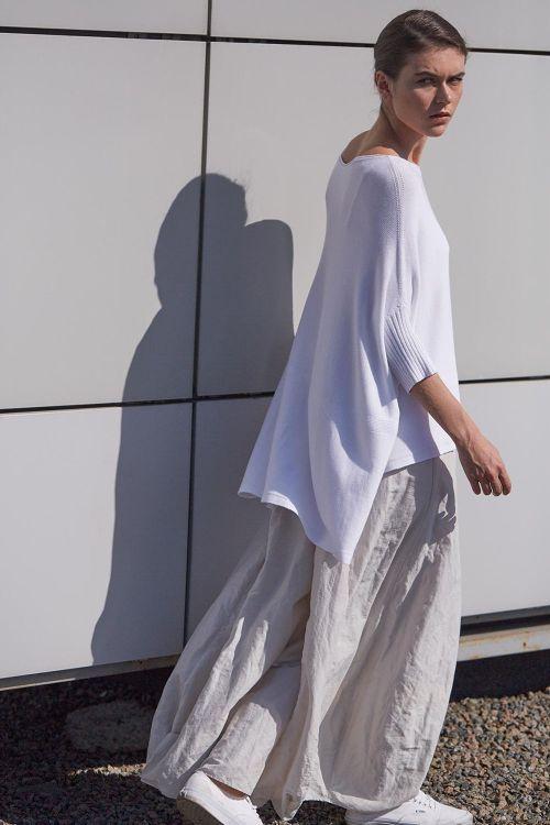 Купить Брюки ШИРОКИЕ жатка из коллекции «…И ВХОДИТ ЖЕНЩИНА» от Lesel (Лесель) российский дизайнер одежды