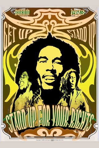 STAND UP BOB MARLEY POSTER