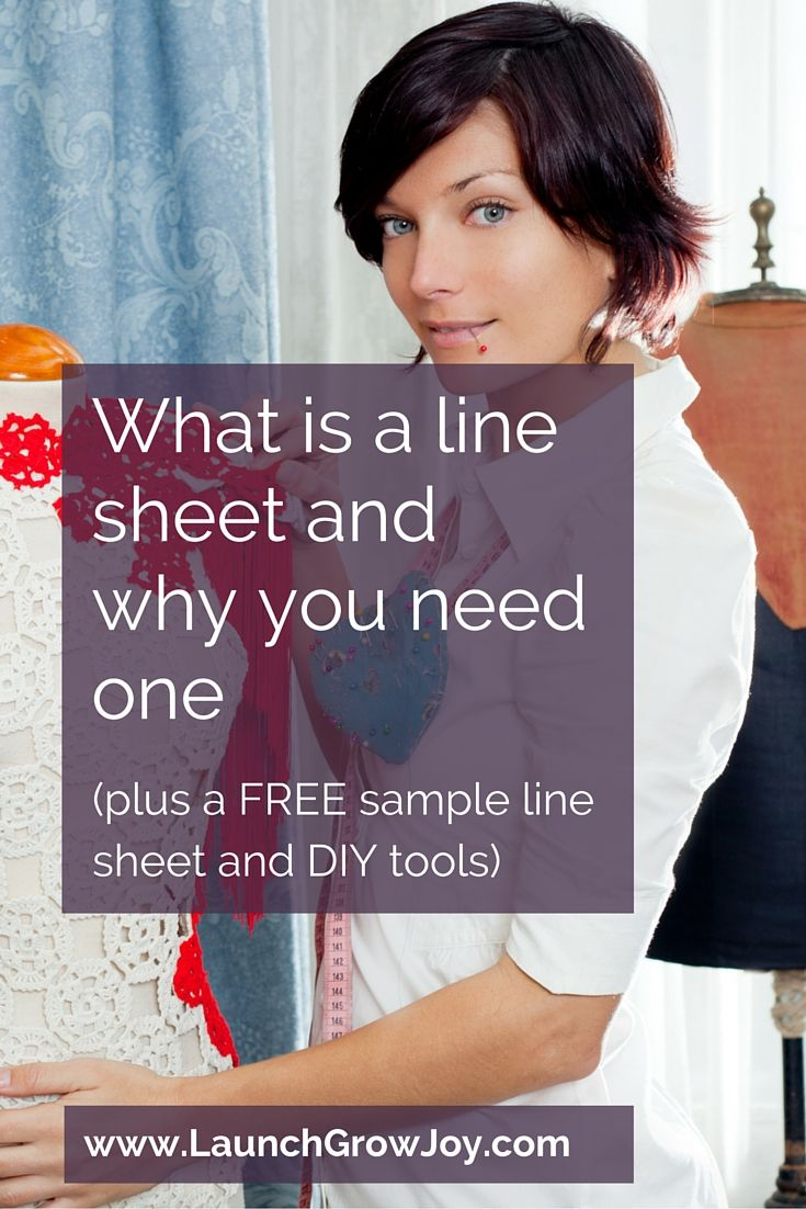 What is a line sheet and why you need one