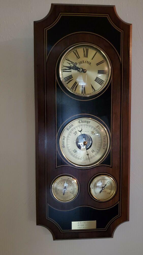 Pin On Vintage Bulova Quartz Weather Clock
