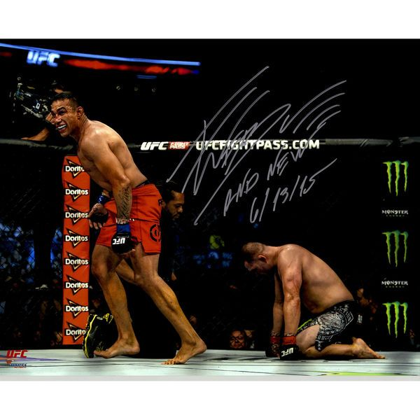 Fabricio Werdum Ultimate Fighting Championship Fanatics Authentic Autographed 16'' x 20'' Victory Over Cain Velasquez Photograph with And New 6/13/15 Inscription - $99.99