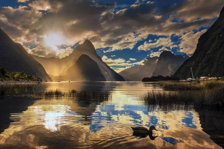 New Zealand. Milford Sound. I was born in NZ!!! Love my country:)) Literally paradise on Earth:) Where anything is possible...where all dreams come true:)))