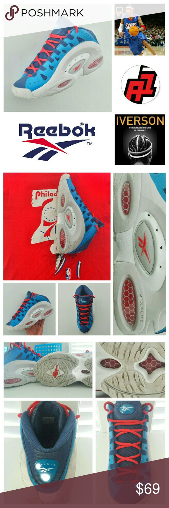 ??Allen Iverson Question?_ IDK the version. Reebok First: I don't know what version of Allen Iverson's these are. But they are still fye shoes!  76er's colors Good condition_ some signs of wear. Reebok Shoes Sneakers
