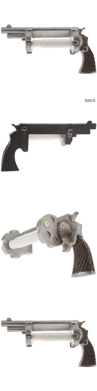 Advertisements 71132: Revolver Pistol Toilet Paper Holder Cowboy Ammo Gun Man Cave Bathroom Decor Part BUY IT NOW ONLY: $32.99