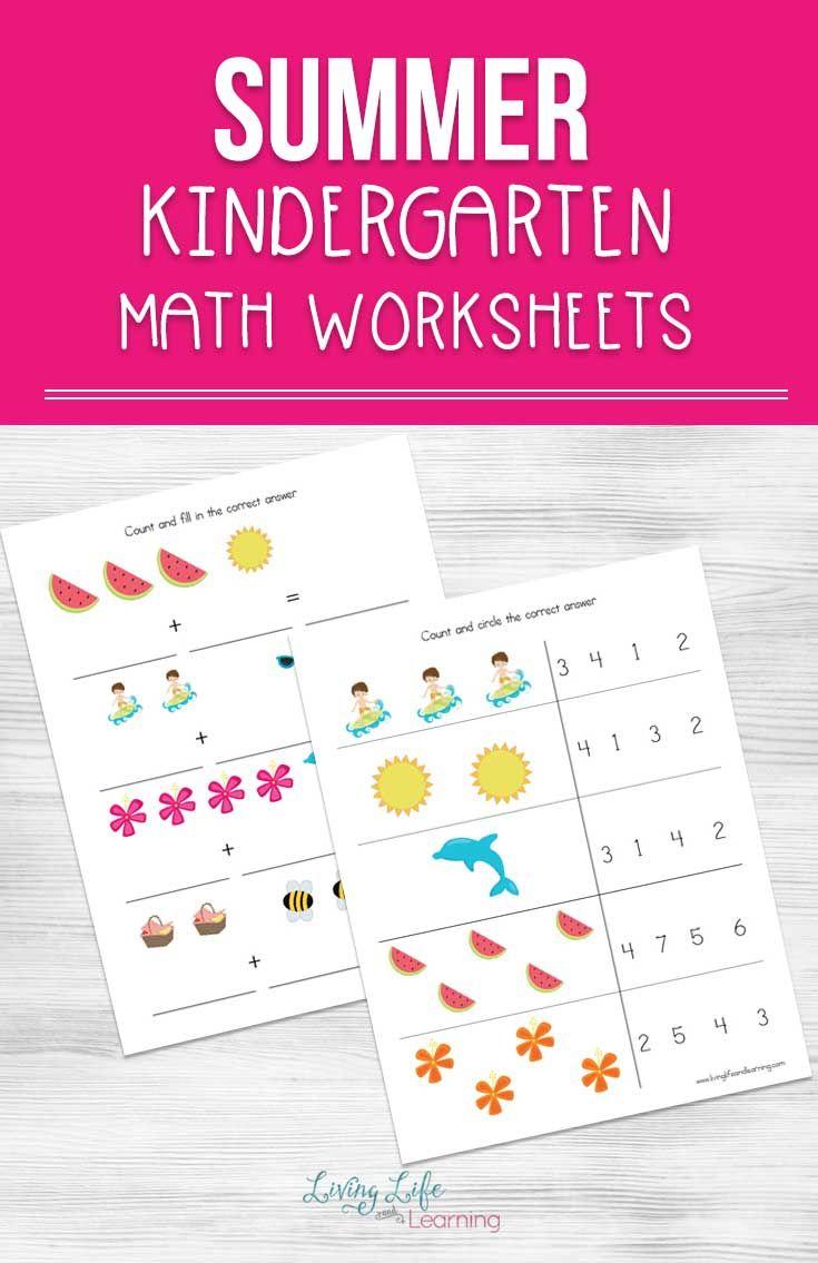 Summer Kindergarten Math Worksheets Kindergarten Math Worksheets Summer Math Kindergarten Math [ 1135 x 735 Pixel ]