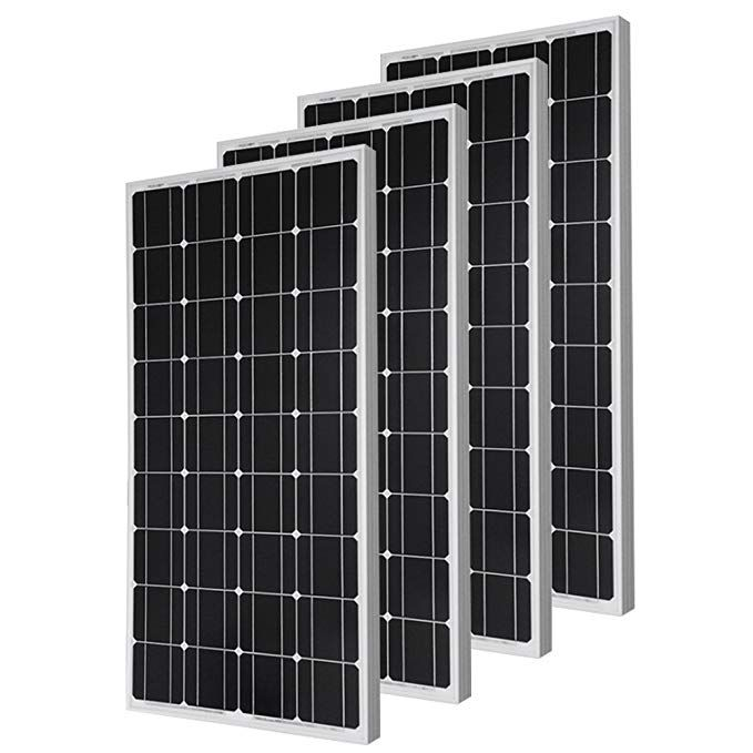 4 Pieces Of Hqst 100 Watt 12 Volt Monocrystalline Solar Panel Review Monocrystalline Solar Panels Solar Panels Best Solar Panels