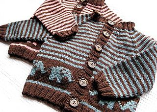 Elephant Baby Cardigan pattern by Jennifer Little on Ravelry