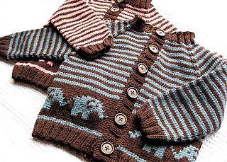 Elephant Baby Cardigan pattern by Jennifer Little on Ravelry