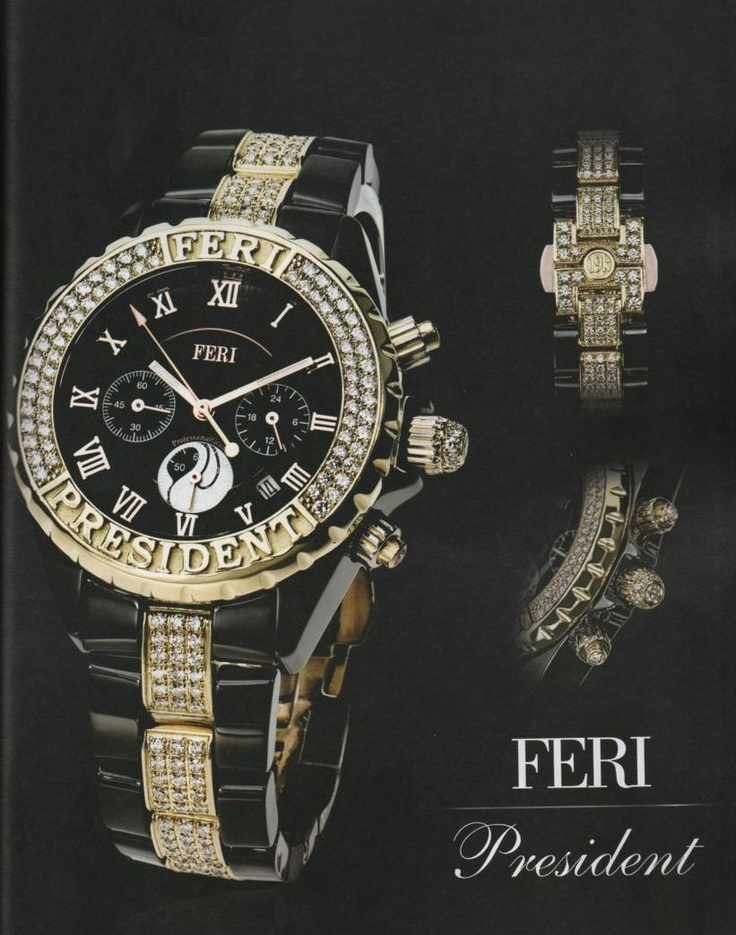 "Feri President.You are not the President until you are wearing the President""said the founder and President of GWT Corp Ramin Mesgarlou. FERI President is designed with one purpose, and that is to deliver the message of your success to the world around you. The message that can only be seen and not heard. This scenery phenomenon is derived from the ocean of sparks from perfectly micro pave set premium diamonds on its masculine face and commanding band. The question remains,is this a luxury…"