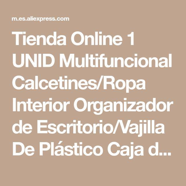 Tienda Online 1 UNID Multifuncional Calcetines/Ropa Interior Organizador de Escritorio/Vajilla De Plástico Caja de Almacenamiento de Cosméticos de Maquillaje Organizador Caja | Aliexpress móvi