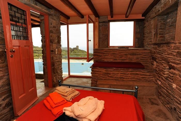 Wake up and enjoy a morning swim in your private swimming #pool in a vacation villa in #Tinos http://www.tinos-habitart.gr/orange-house.php