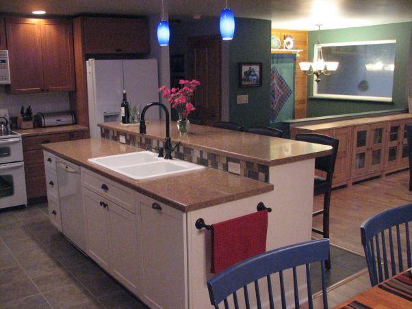 Suburban Cabin Great Room Kitchen Remodel Split Level