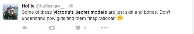 Tweeters lash out at 'too thin' Victoria's Secret models