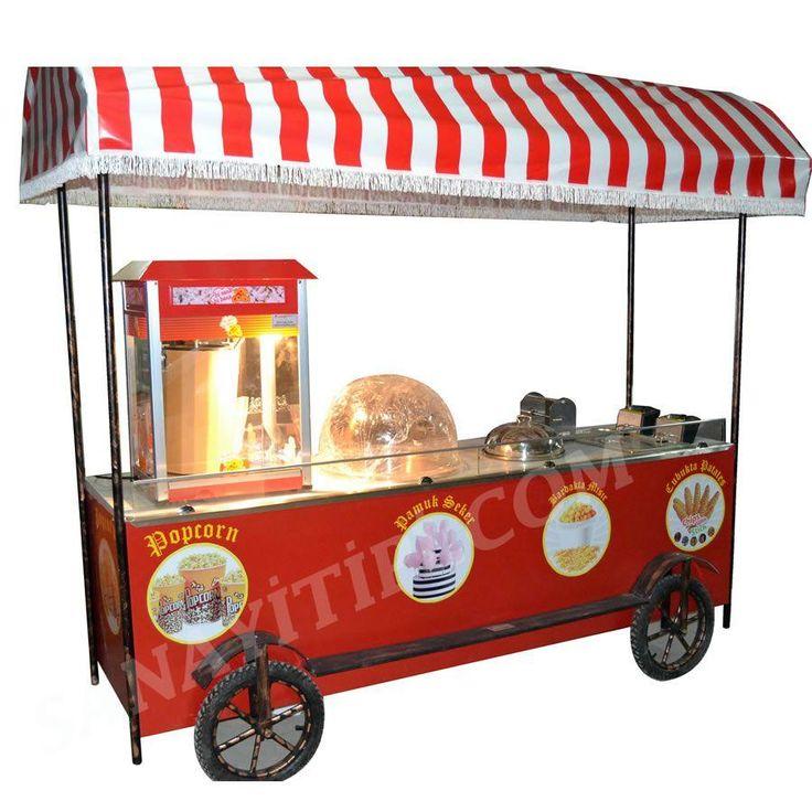 Çubukta Patates + Bardakta Mısır +Popcorn+ Pamuk Şeker Arabası » - Sanayi tipi
