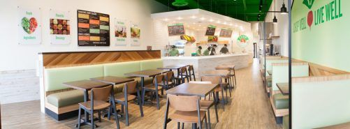 Sadie Chairs in fast casual chain restaurant, Chop 5