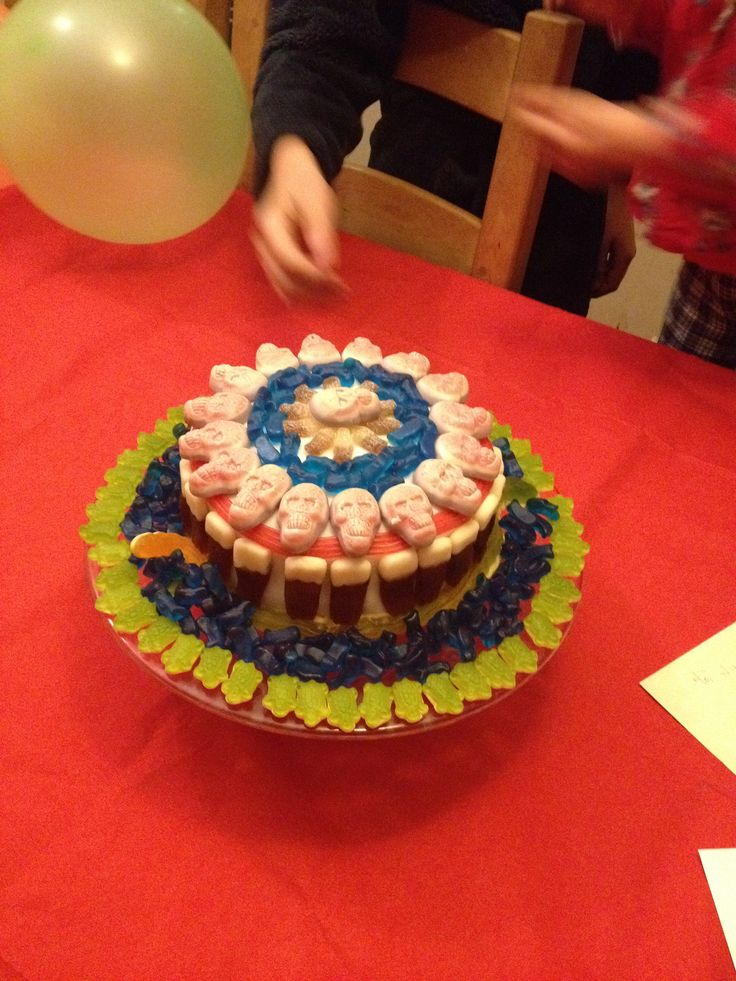 Sweetie covered cake - the kids loved it!
