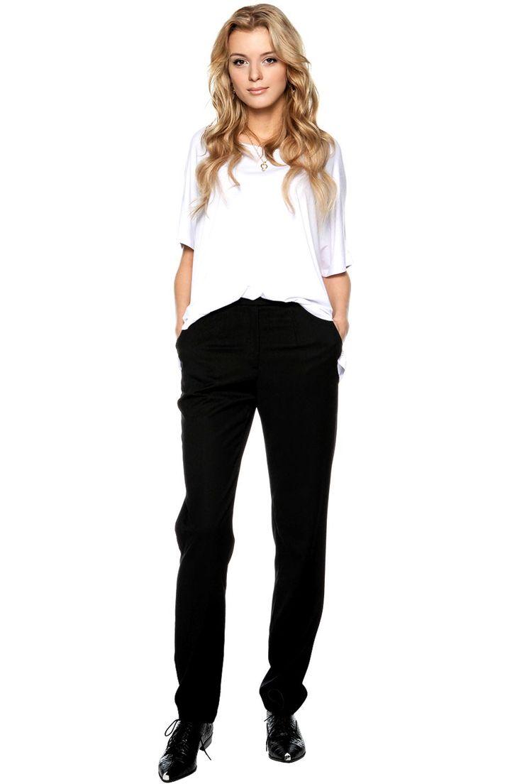 FORHEN Spodnie eleganckie czarne