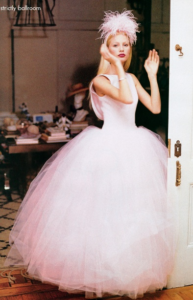 Pretty pink tulle ball gown. Kirsty Hume - Strictly Ballroom