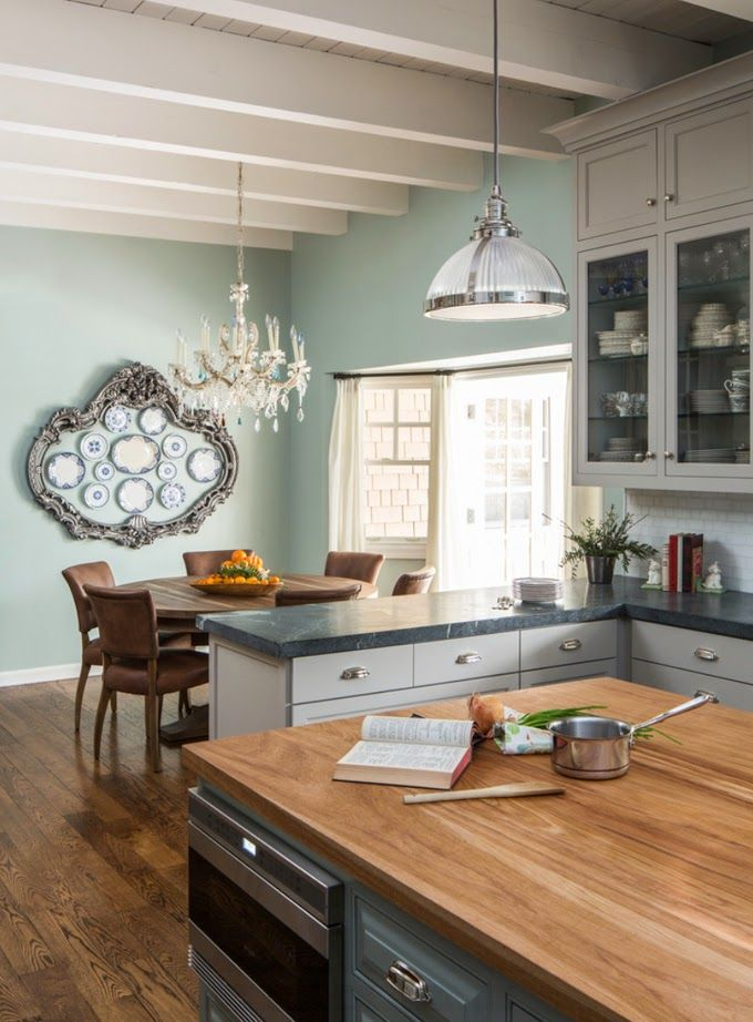 What I like about this is ALL about the paint color... soooooooothing. House of Turquoise: Ggem Design Co