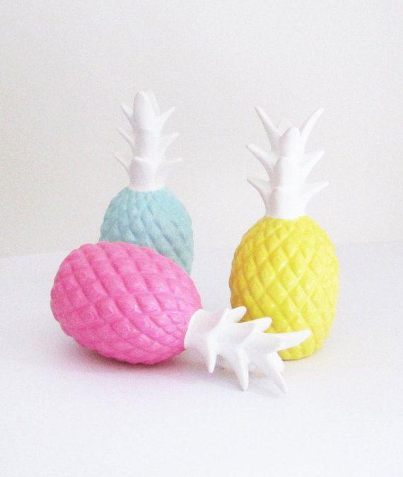 PineapplesSet 3 Pineapple Pineapple Sculpture by hodihomedecor