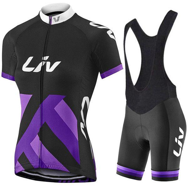 2017 Liv Team Women's Cycling Jerseys Set, Summer Cycling Clothing Womens Bicycle Clothing Bike Clothes