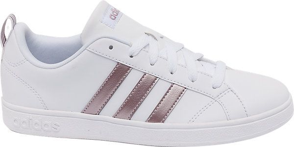 White Adidas Advantage trainers for