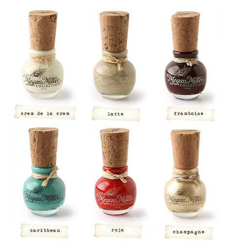 Not only are these pretty colors, but clever product packaging can really win me over. What neat little wine cork applicators :)