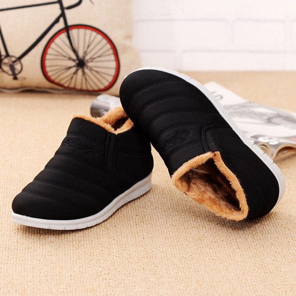 $10.79 Comfortable Casual Warm Fur Lining Lazy Shoes Ankle Snow Boots