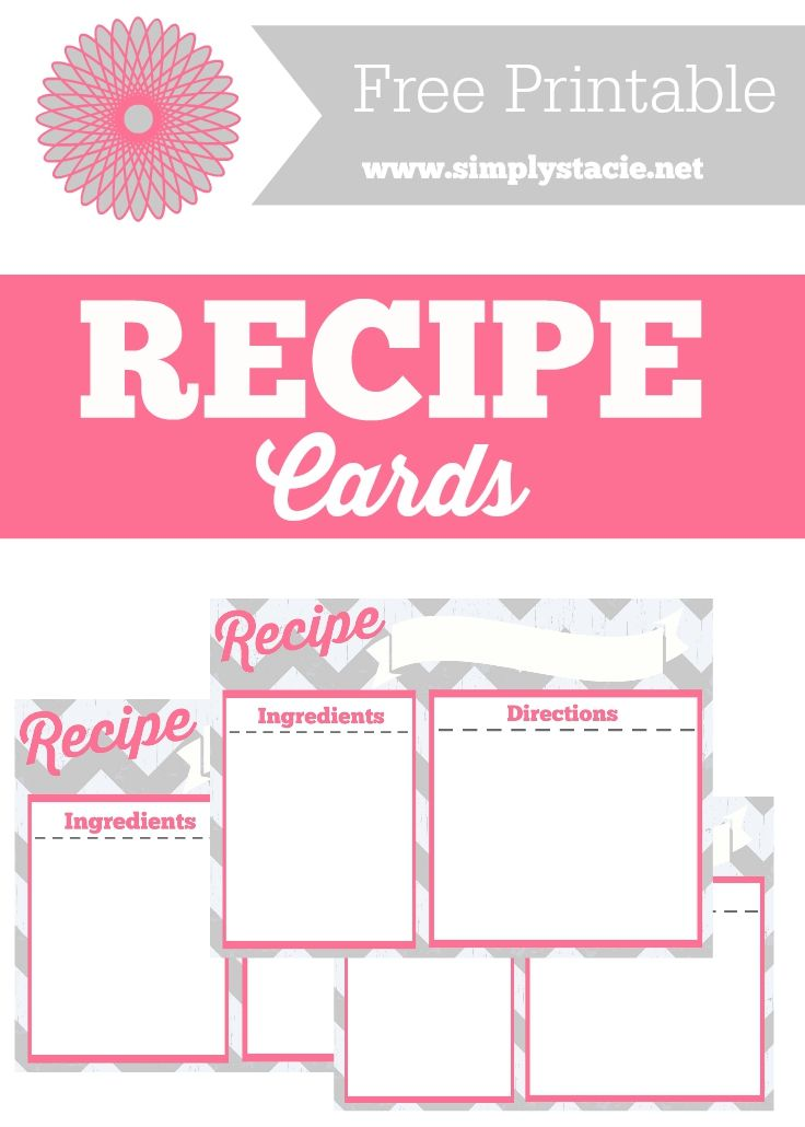 525 best printable recipe cards images on Pinterest Printable - free recipe templates